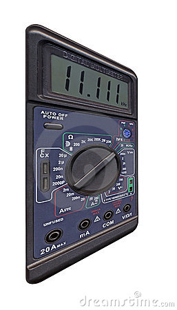 digital multimeter with switch, measurement,