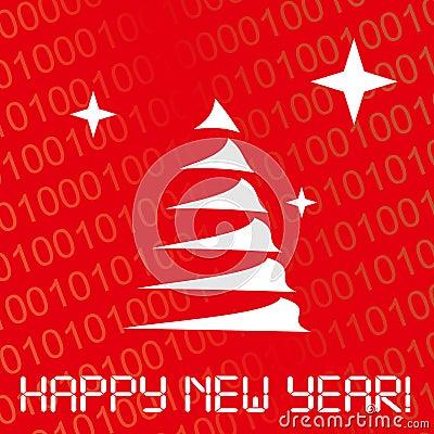 Digital new year card