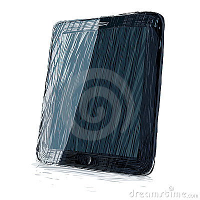 Digital pad vector illustration.