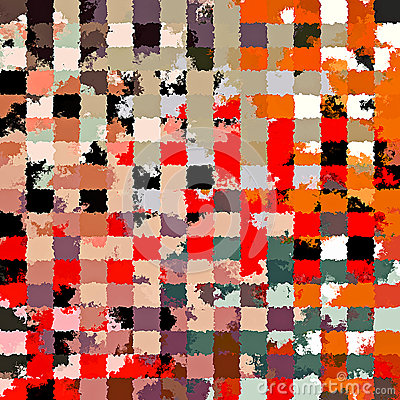 Digital Painting Beautiful Abstract Colorful Chaotic Rectangular Pattern Background Stock Photo