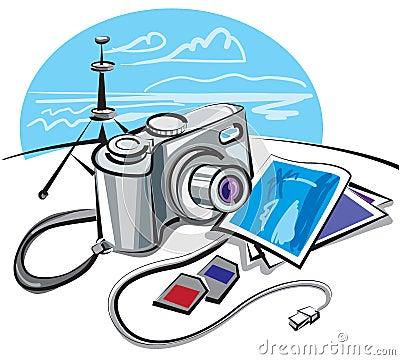 Free Digital Photo Camera Stock Photo - 16107640