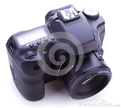 Digital photo camera with 50mm lens