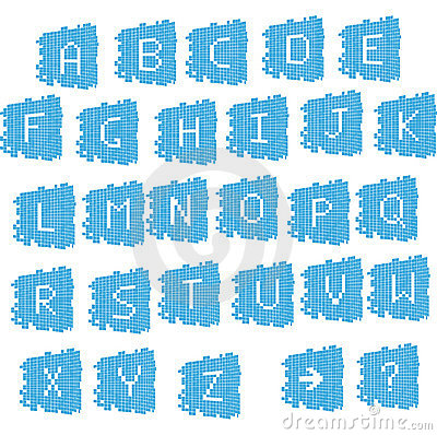 Digital pixel-like alphabet