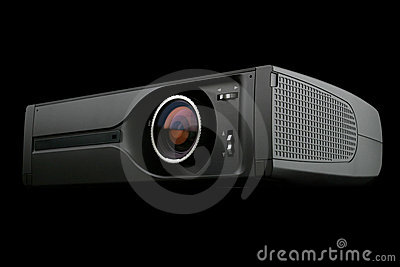 Digital Projector isolated on black