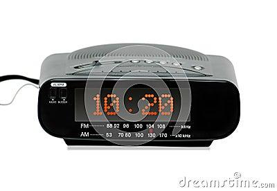digital radio alarm clock stock photos image 161193. Black Bedroom Furniture Sets. Home Design Ideas