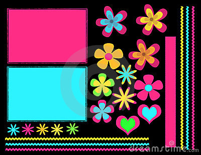 Digital scrapbook set
