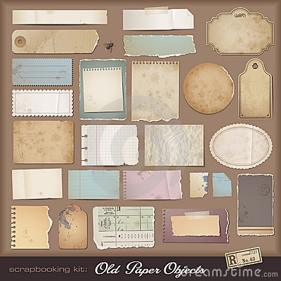 Digital scrapbooking kit: old paper