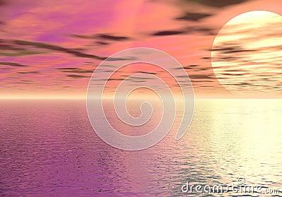 Digital sea and sky