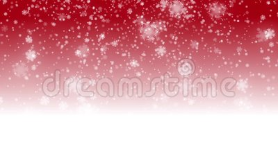 Digital seamless loop christmas red background with white bokeh and stars snow falling holiday. Xmas hd 1080p vector illustration