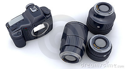 Digital SLR Camera Body and Lenses