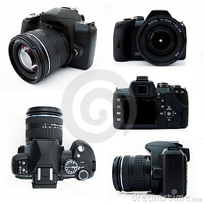 Free Digital SLR Camera From All Viewpoints Isolated Stock Photos - 4517113