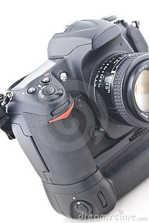 Digital SLR on white