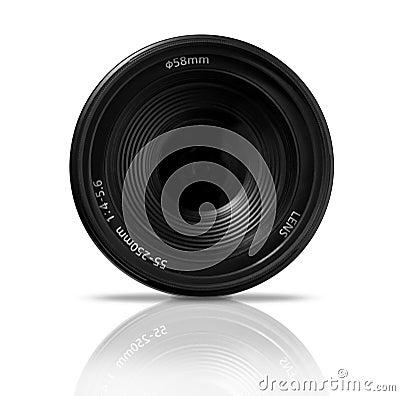 Digital SLR Zoom lens, front view