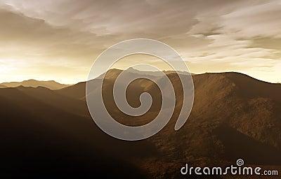 A digital sunset