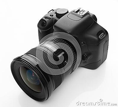 Digital svart kamera