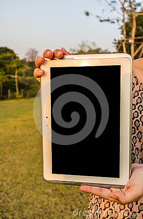 Digital Tablet in Hand
