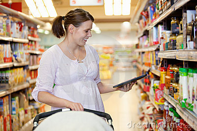 Digital Tablet Shopping List