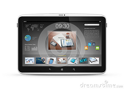 Digital tablet with start screen interface