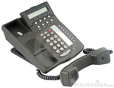 Digital telephone set, 8 soft keys, off-hook
