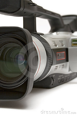 Free Digital Video Camera (Detail Front-Side View) Royalty Free Stock Image - 576986