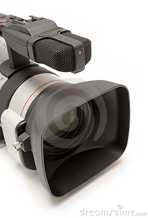 Free Digital Video Camera (Detail Top-Front View) Royalty Free Stock Photography - 576987