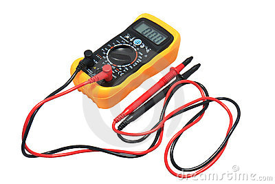 Digital Voltage Meter isolate on White
