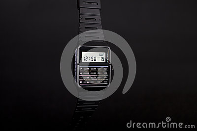 Digital Watch with calculator