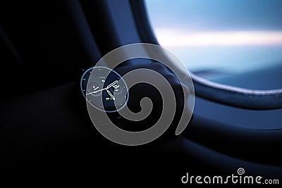 Digital Watch Inside Airplane Free Public Domain Cc0 Image
