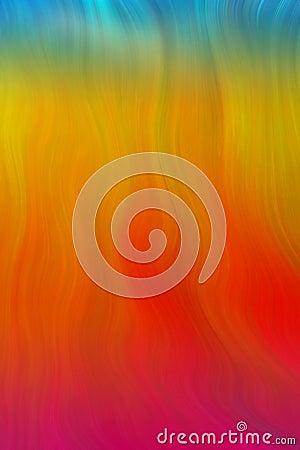 Digital wavy flames of fire