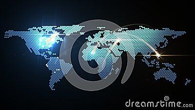 Digital-Weltkarteanimation