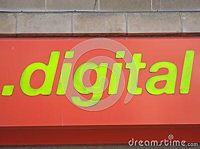 Digital world in green.