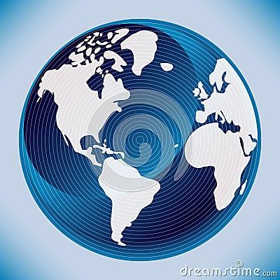 Digital world map design.