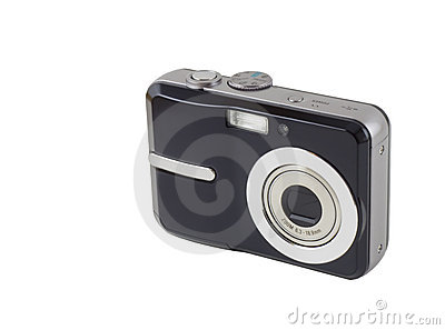 Digitale Compacte Camera die met het Knippen van Weg wordt geïsoleerd,
