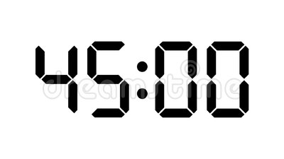 Digitale klokaftelprocedure van zestig tot nul - volledige HD-Tijdopnemer met LCD vertoning - zwarte aantallen over een witte ach stock footage
