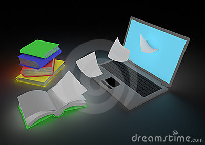 Digitizing book concept