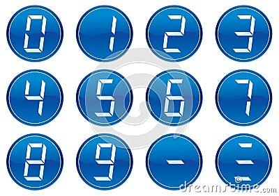 Digits icons set.