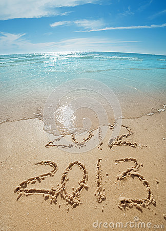 Free Digits On The Sand Stock Images - 28053524