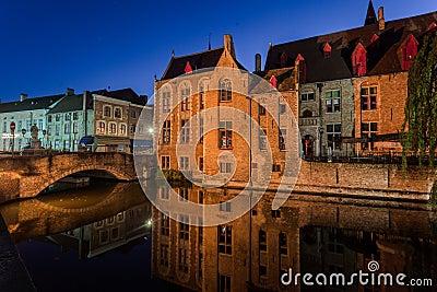 Dijver Canal in Bruges Belgium