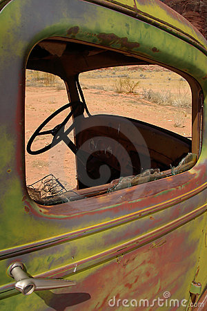 Dilapidated abandoned truck