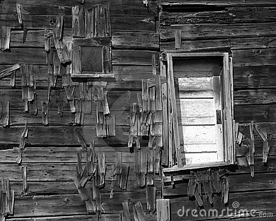 Dilapidated Barn Door And Window