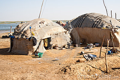 Dilapidated Bedouin village.