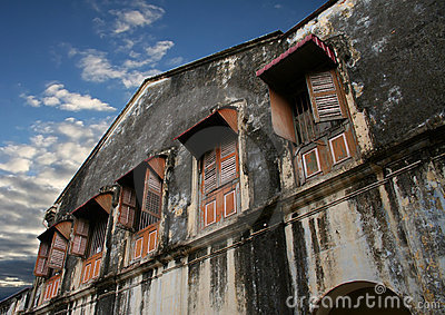 Dilapidated building