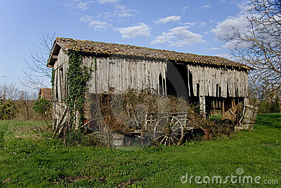 Dilapidated French Barn