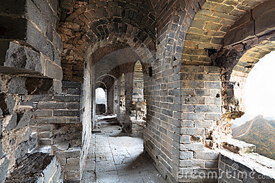 Dilapidated great wall watch tower