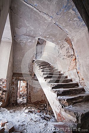 Dilapidated house.