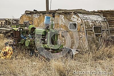 Dilapidated House Trailer Stock Image Image 34556331