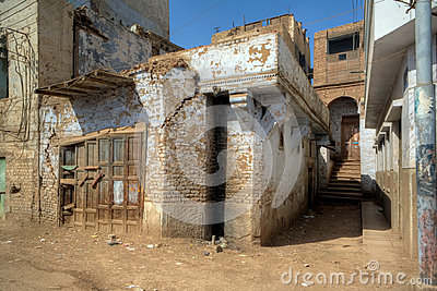 Dilapidated houses of Egyptian village