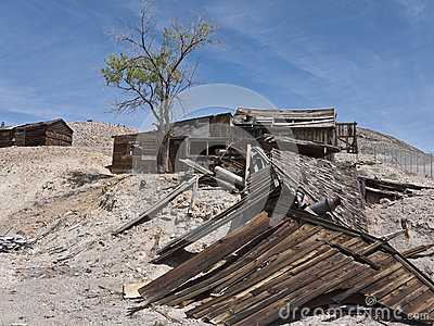 Dilapidated structures in Tonopah, Nevada