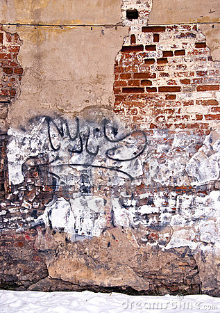 Dilapidated wall background wall paint graffiti
