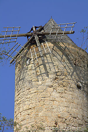 Dilapidated windmill